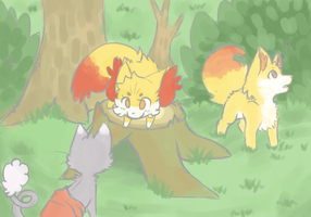Stump huntin' (Explorers task) by LittleWhiteWolfAngel