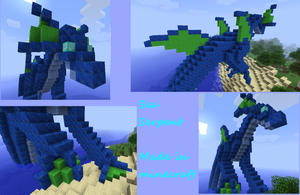 Minecraft Creation: Sea Serpent by Sylvanria
