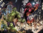 Luis Figueiredo's Hulk Vs Red Hulk: COLORS by ArtOfTDJ