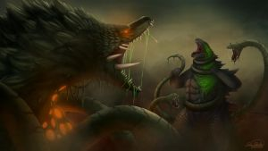 Godzilla Vs Biollante by Sawuinhaff