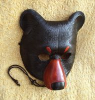 Black Bear Leather Mask by merimask