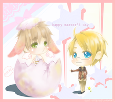 APH,USUK: happy easters by semi-shigure