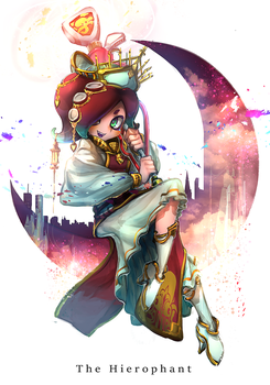 HeroMode:Arcana 05 The Hierophant by hizake