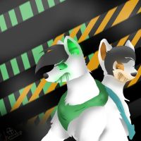 ~'Zac and Eldrich - Turret fox / wolf by Sniperisawesome
