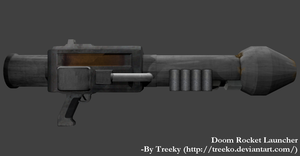Doom Rocket Launcher 3D model Complete by Treeko