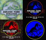 """Jurassic Park"" logos by T-PEKC"