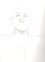 angry clown enby by clownbag