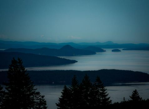 The Gulf Islands at Twilight by sshaw