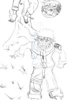 Naruto line art unfinished by Mrknownothing