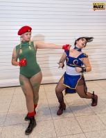 Cammy and Chun Li - Street Fighter by Paper-Cube