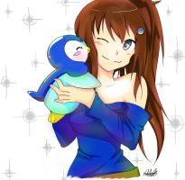 Request : Piplup's hug by Hhell