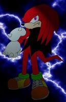 Knuckles the Vampire by windflame