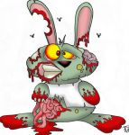 zombie bunny rabbit by richardsymonsart
