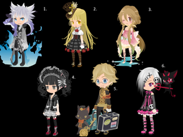 TINIERME Adoptables~ DTA and WTA .:ALL ON HOLD:. by GraceBusya