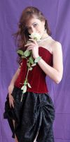 Christina with a rose by Hudojnica