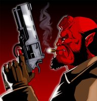Hellboy by CerberusLives
