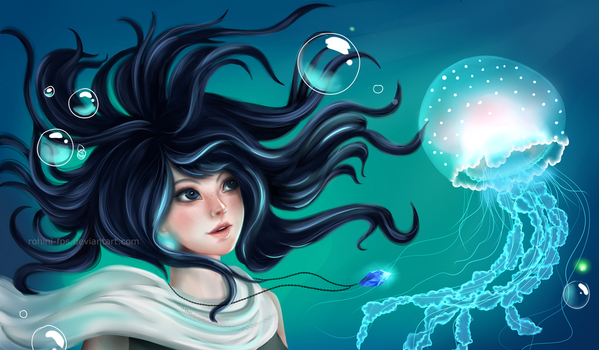 Jellyfish(i am not good at captions) by Rohini-fps