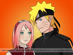 Narusaku color by xCaeli