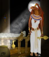 Kebechet Egyptian Goddess by JaneEden