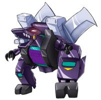 BOH Trypticon robot mode by Transformergirl