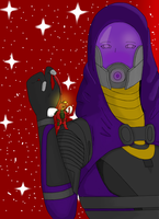 Mass Effect: Christmas gift by Tali by Lilihierax