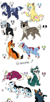 Dog and Cat Adopts (OPEN) by Neon-Spots-Adopts