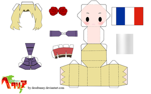 Hetalia France Chibi Papercraft by tsunyandere