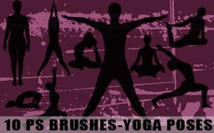 PS Brushes-Yoga Postures by fiftyfivepixels