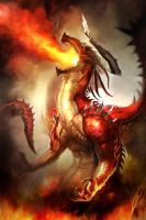 Flame Dragon by boolahaha
