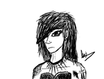 Goth/Scene girl .:commision:. by lionpants99