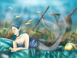 Mermaid - Contest entry for Eledhwen by FairyMela
