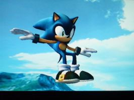 Sonic sit_s on air by AsukaRose