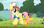 Fluttershy the Pokemon Trainer by drawponies