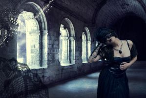 Black Veil and Lace by Alivvia