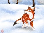 AT: Aiden in the snow by Plug-Fox