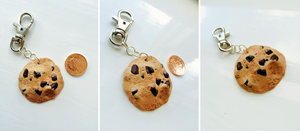 Chocolate Chip Cookie Keyring by HumblyBumblyDesigns