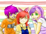 The Cutie mark Crusaders human versions by AskHeroicHamburger