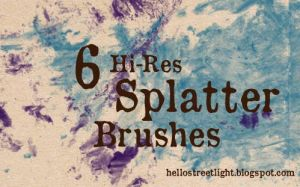 Free Brush Set 17: Splatter by tau-kast