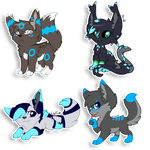 Chibi commission batch 2 by CrispyCh0colate