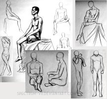 Figure Drawing sketchdump by Spectrum-VII