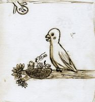 1st bird drawing by jiakko