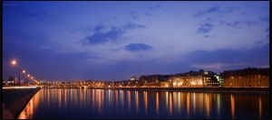 evening embankment by restive-wench