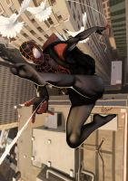 spider-man as Miles by wingwingwingwing