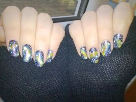 Galaxy nail art by KikyBee