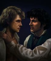 Grantaire and Enjolras by DishaD
