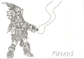 Crazy Mesoamerican Warrior by Idle-Thumbs
