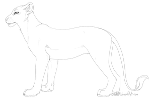 Free Lioness Lineart by LioKat