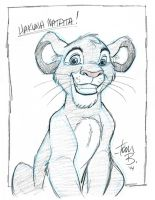 Young Simba sketch by tombancroft