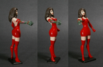 Witchblade Custom Figure Red Dress by GeekVarietyDotCom