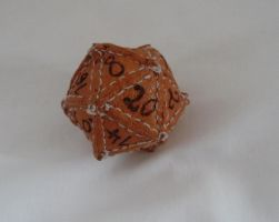 Leather D20 by Isentosamballerer